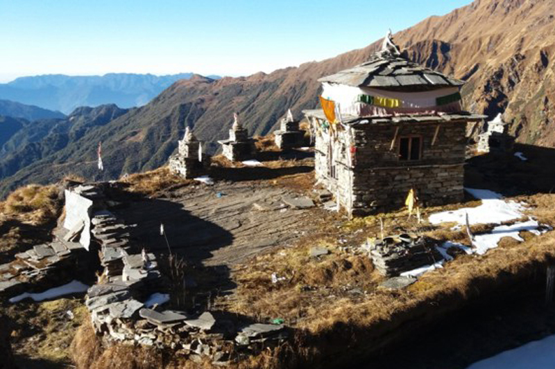 The Rikhar Temple at the foothill of Dhaulagiri mountain in Kuinemangale of Myagdi district, as captured on Thursday, November 17, 2016. Photo: RSS