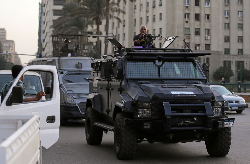 Members of security forces secure Tahrir Square in Cairo, Egypt, on November 11, 2016. Photo: Reuters
