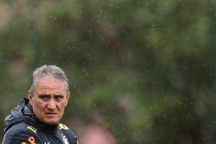 Football Soccer - Brazil's training - Galo training center, Vespasiano, Brazil - 13/11/16 - Brazil's head coach Tite attends a training session in preparation for their World Cup qualifying match against Peru. REUTERS/Cristiane Mattos