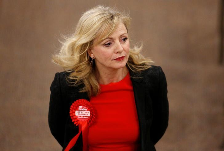 Labour Party Candidate Tracy Brabin is seen at the count in murdered Labour Party MP Jo Cox's Batley and Spen constituency, in Cathedral House, St Thomas Road, Huddersfield, in Yorkshire, Britain October 21, 2016. REUTERS/Craig Brough
