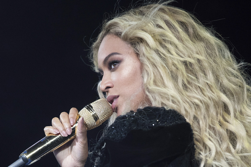 This photo taken Sept. 24, 20016, shows Beyonce performing during the Formation World Tour at Mercedes-Benz Superdome, in New Orleans. Photo: AP