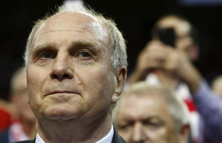 Bayern Munich's Uli Hoeness arrives during the annual general meeting of the German Bundesliga first division soccer club in Munich, Germany, November 25, 2016. REUTERS/Michaela Rehle