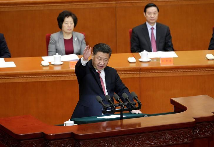 China's President Xi Jinping delivers a speech at a conference commemorating the 150th birth anniversary of Sun Yat-Sen, widely recognised as the father of modern China, at the Great Hall of the People in Beijing, China, November 11, 2016. REUTERS/Jason Lee