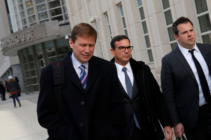 Adriano Juca, Diretor Legal of Construction Norberto Odebrechtu00a0(CNO), exits federal court after it was agreed that Odebrecht and petrochemical company Braskem would pay a settlement with the Justice Department in Brooklyn, New York City, US, December 21, 2016. Photo: Reuters
