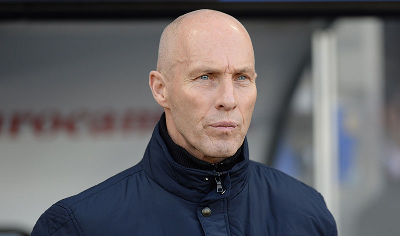 Swansea manager Bob Bradley watches the action during their English Premier League soccer match against West Ham United at the Liberty Stadium, Swansea, Wales, on Monday, December 26, 2016. Photo: Simon Galloway/PA via AP