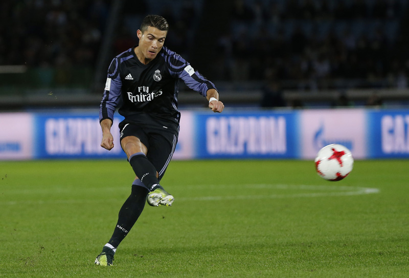 Real Madrid's Cristiano Ronaldo in action. Photo: Reuters