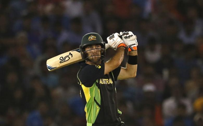 Cricket - India v Australia - World Twenty20 cricket tournament - Mohali, India - 27/03/2016. Australia's Glenn Maxwell plays a shot. REUTERS/Adnan Abidi  nPicture Supplied by Action Images