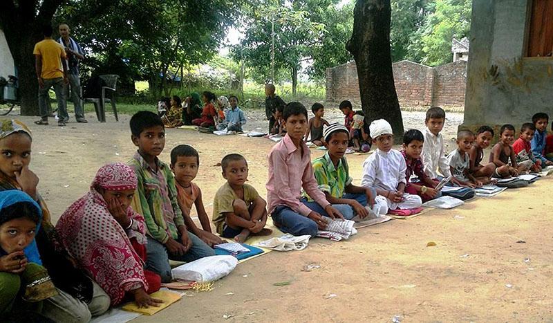 Children of Muslim community studying at Madrasa Badrul Ulum in Shivaraj-12 of Kapilvastu district, on December 13, 2016. Only 117  of total 350 madrasas are officially registered. Photo: RSS