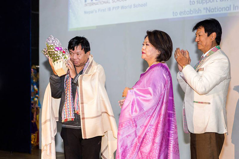 Mahabir Pun, a recipient of the prestigious Ramon Magsaysay Award, attends a function organised to collect support for his National Inovation Centre in Khumaltar, Lalitpur on Sunday, December 25, 2016. Courtesy: Dronashish Neupane