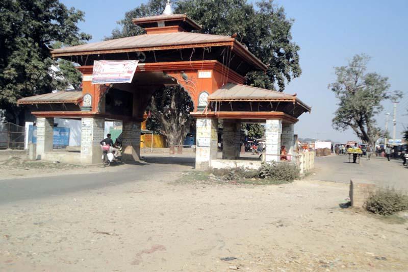 Nepal-India border point in Rupaidiha, Nepalgunj. Photo: Diwakar Pyakurel/File