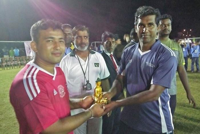 Captains of Nepal and Sri Lanka before the final match. Photo: National Sports Council