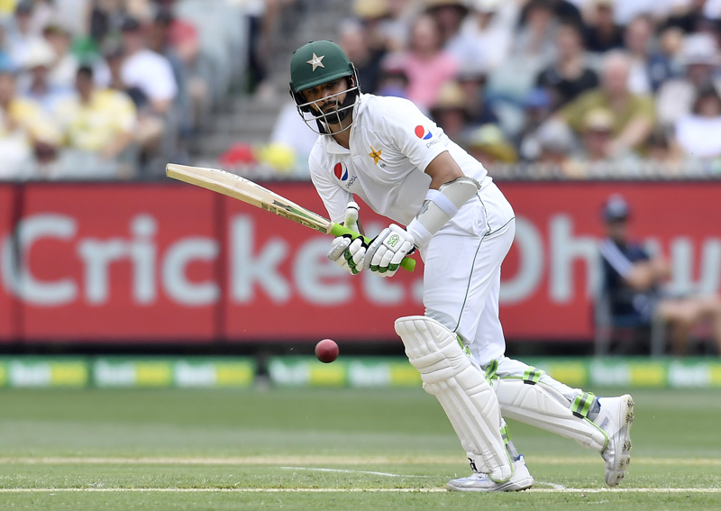 Pakistan's Azhar Ali hits a shot against Australia on the second day of their second cricket test match in Melbourne, Australia, Tuesday, Dec. 27, 2016. Photo: AP