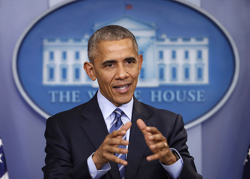 President Barack Obama speaks during a news conference in the briefing room of the White House in Washington, on December 16, 2016. Photo: AP