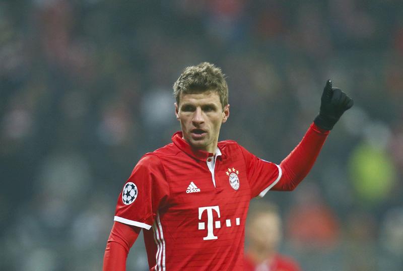 Bayern Munich's Thomas Mueller reacts. Photo: Reuters