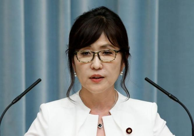Japan's Defense Minister Tomomi Inada speaks at a news conference at Prime Minister Shinzo Abe's official residence in Tokyo, Japan, on August 3, 2016. Photo: Reuters