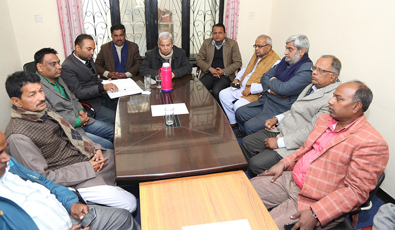 FILE: United Democratic Madhesi Front (UDMF) holds meeting at Babarmahal in Kathmandu, on Saturday, December 10, 2016. Photo: RSS