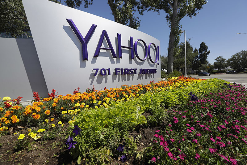 FILE - A Yahoo sign at the company's headquarters in Sunnyvale, California, US, on Tuesday, July 19, 2016. Photo: AP