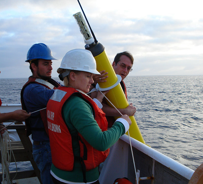 The deploying of an Argo float to capture ocean temperature data. A new independent study shows no pause in global warming, confirming a set of temperature readings adjusted by US government scientists that some who reject mainstream climate science have questioned. Photo: NOAA Corps, Lt Elizabeth Crapo via AP