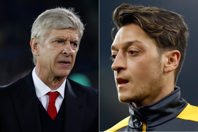 File: Arsenal's manager Arsene Wenger (left) and Mesut Ozil. Photos: Reuters