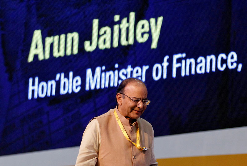 File - Indian Finance Minister Arun Jaitley attends a seminar on the Goods and Services Tax (GST) issues during the Vibrant Gujarat investor summit in Gandhinagar, India on January 11, 2017. Photo: Reuters