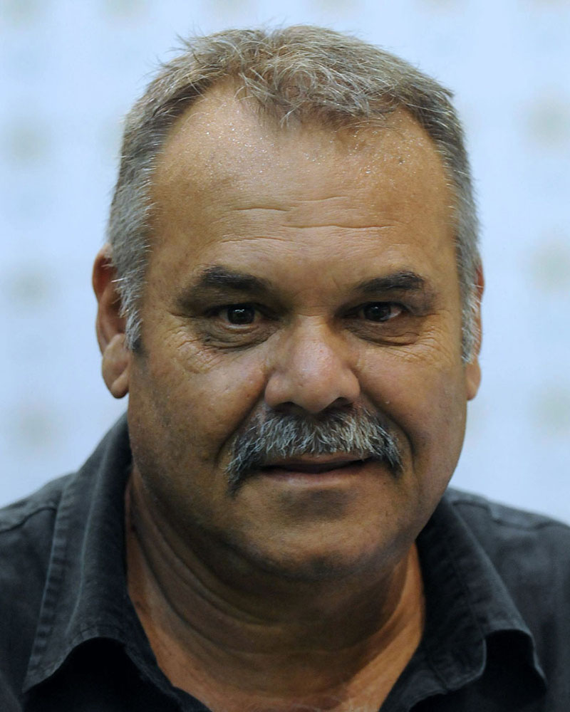 Newly appointed Pakistan cricket team coach Dav Whatmore addresses a press conference in Lahore on March 4, 2012. Former Australian batsman Dav Whatmore has been appointed Pakistan's head coach for two years replacing Mohsin Khan who was serving on an interim basis, officials said. Photo:  Arif Ali/AFP/Getty Images via AFP
