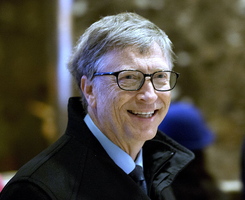 FILE - Bill Gates arrives to Trump Tower in New York, on Tuesday, December 13, 2016. Photo: AP