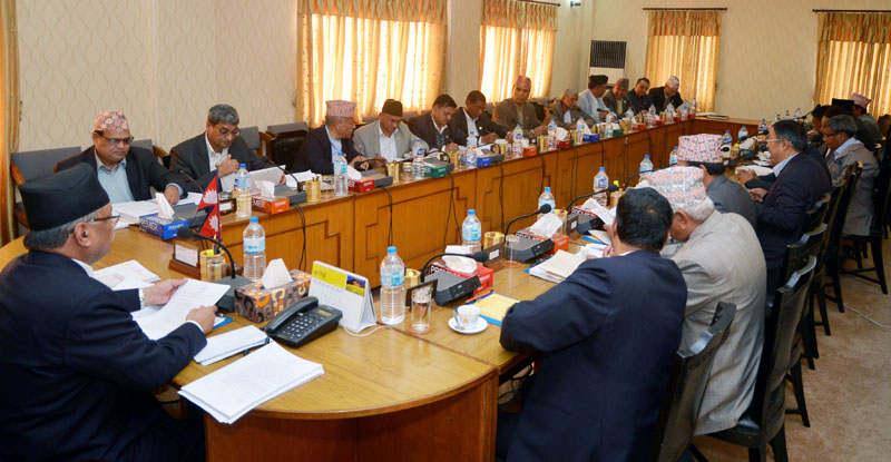 The Cabinet holds a meeting in Kathmandu, on Friday, January 27, 2017. Photo: PM's Secretariat