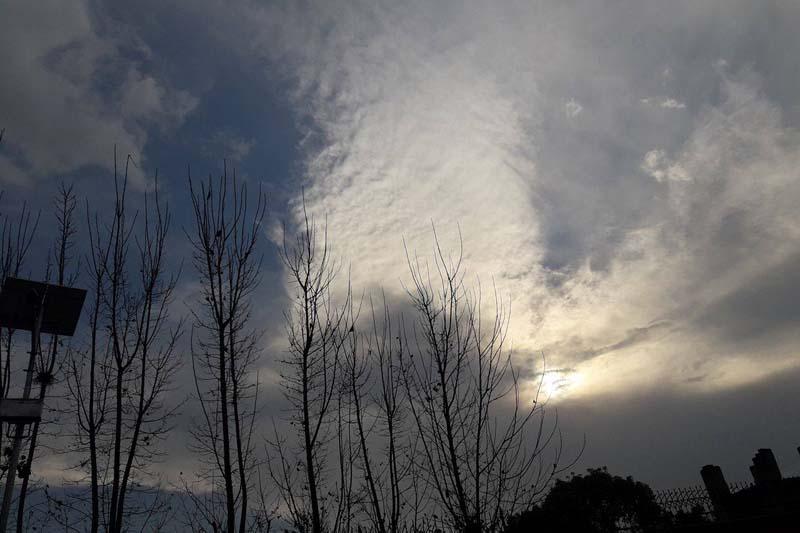 Clouds hover over the Kathmandu sky as captured from Anamnagar, on Sunday, January 1, 2017. Photo: Monica Lohani