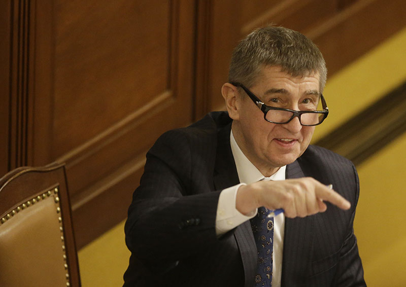 FILE - Czech Republic's Finance Minister Andrej Babis gestures prior an extraordinary session of Parliament's lower house in Prague, Czech Republic, on Wednesday, March 23, 2016. Photo: AP
