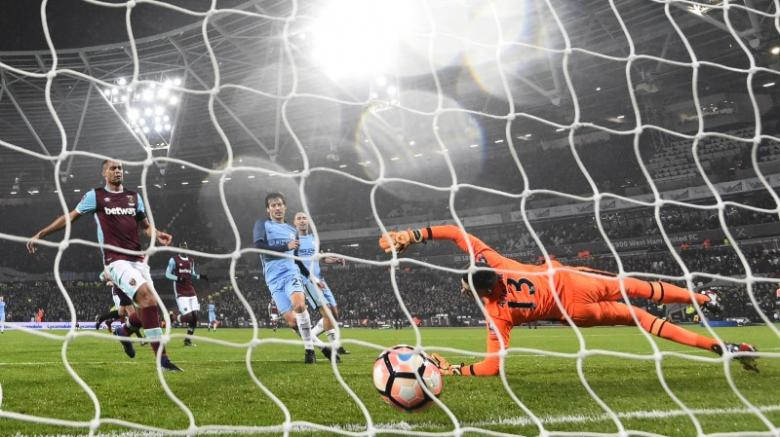 Manchester City's David Silva scores their third goal  Reuters / Toby Melville Livepic