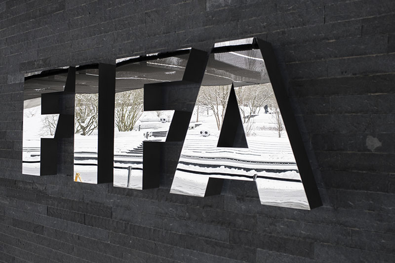 The FIFA logo is pictured on the occasion the FIFA Council meeting at the Home of FIFA in Zurich, Switzerland, on Tuesday, January 10, 2017. Photo: Ennio Leanza/Keystone via AP