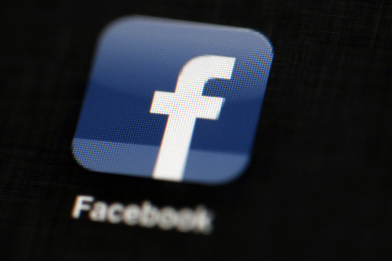 FILE - The Facebook logo is displayed on an iPad in Philadelphia, on May 16, 2012. Photo: AP