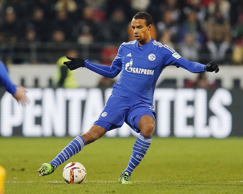 FILE -  Joel Matip during a German Bundesliga soccer match between FSV Mainz 05 and FC Schalke 04 in Mainz, Germany when he was playing for Schalke 04, on Friday, February 12, 2016. Photo: AP