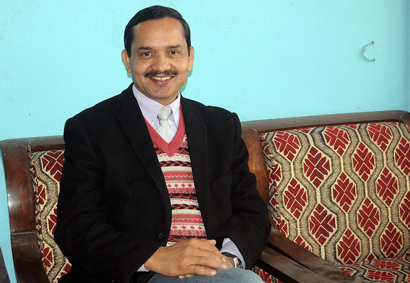 Interview with the Chief Executive Officer of National Reconstruction Authority Govinda Raj Pokharel, in kathmandu, on January 29, 2017. PHOTO: Balkrishna Thapa Chhetri/THT