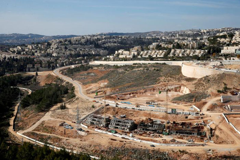 A general view shows the Israeli settlement of Ramot in an area of the occupied West Bank that Israel annexed to Jerusalem on January 22, 2017. Photo: Reuters
