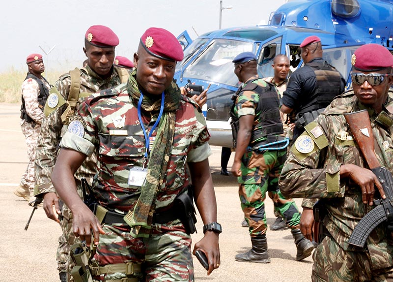 Lieutenant-Colonel Cherif Ousmane arrives at the airport to speak with mutinous soldiers in Bouake, Ivory Coast January 13, 2017. REUTERS/Thierry Gouegnon