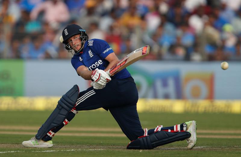 England's Joe Root plays a shot. Photo: Reuters