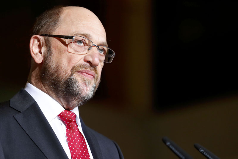 Martin Schulz, former president of the European Parliament looks on during a news conference in Berlin, Germany, on January 24, 2017. Photo: Reuters