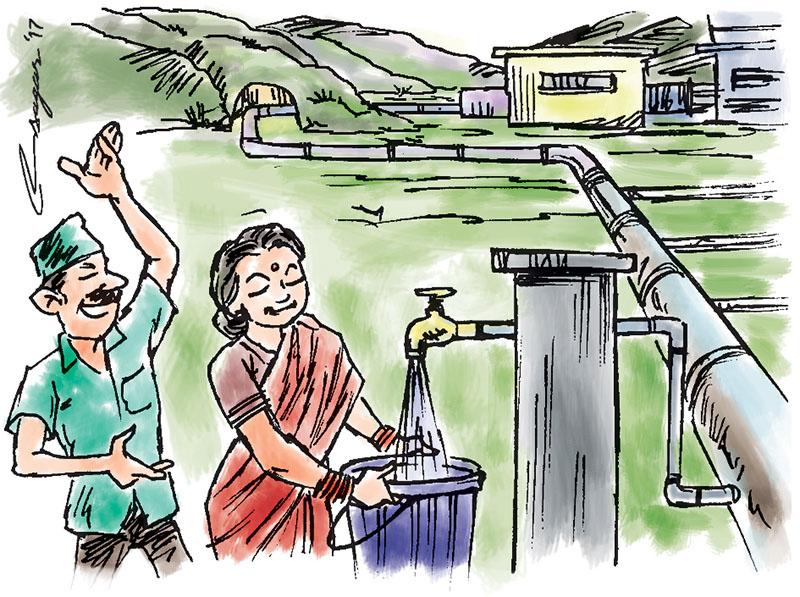 Melamchi. Illustration: Ratna Sagar Shrestha/THT