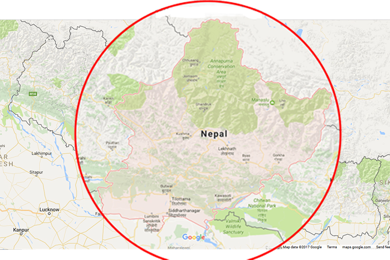 Mid-Western Development Region of Nepal. Image: Google maps