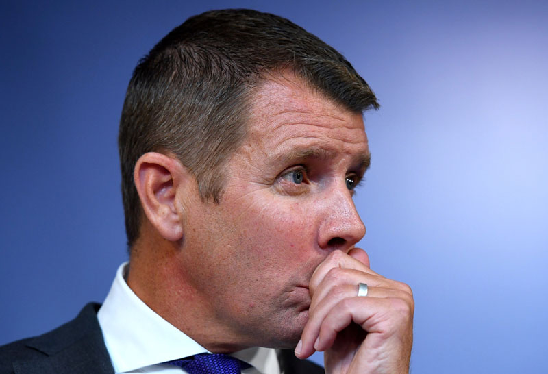 State Premier Mike Baird, the leader of Australia's biggest state economy, New South Wales (NSW), announces his resignation during a media conference in Sydney, Australia, on January 19, 2017. Photo: AAP via Reuters