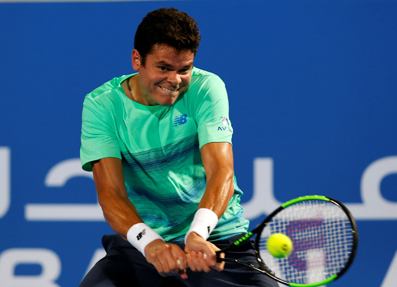 Milos Raonic of Canada in action. Photo: Reuters
