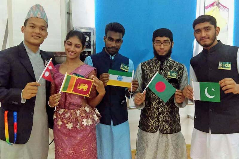 Adish Kumar Gorkhali with other students from South Asia at the 15th Chinese Bridge Competition, China. Photo Courtesy: Adish Kumar Gorkhali