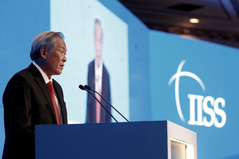 File - Singapore's Defence Minister Ng Eng Hen speaks at the International Institute for Strategic Studies (IISS) Manama Dialogue Regional Security Summit in Manama, Bahrain December 10, 2016. Photo: Reuters