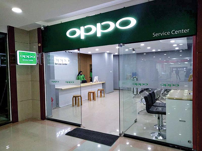 OPPO's first customer service centre at Kamalpokhari, Kathmandu on January 19, 2017. Photo: THT