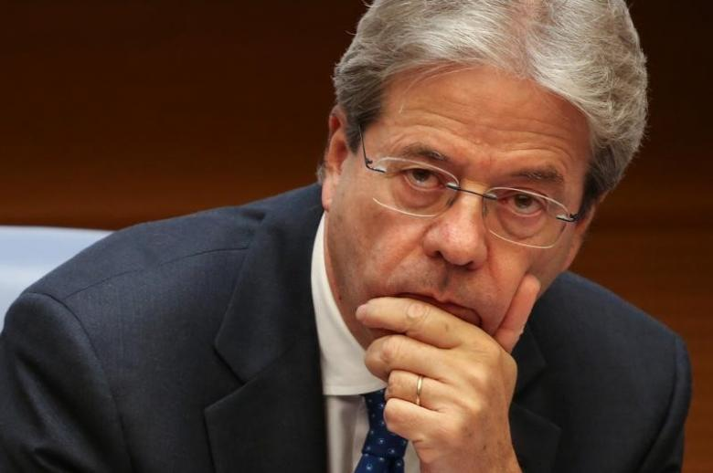 Italy's Prime Minister Paolo Gentiloni holds a traditional end-year press conference in Rome, Italy December 29, 2016. REUTERS/Alessandro Bianchi