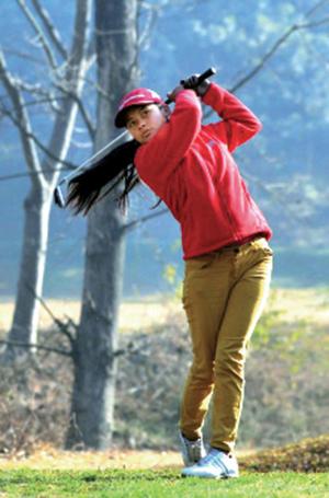 Nepal's first female golfer Pratima Sherpa.