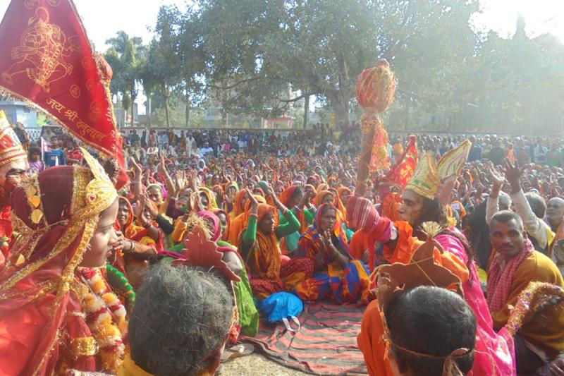Locals of Saptari district attend a mass meeting organised by the Rastriya Janata Party-Rajabadi demanding reinstatement of monarchy, in Saptari, on Friday, January 6, 2017. Photo: Byas Shankar Upadhyaya