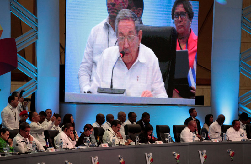 Regional leaders attend a speech of Cuban President Raul Castro during the Community of Latin American and Caribbean States (CELAC) summit in Bavaro, Punta Cana, Dominican Republic, on January 25, 2017. Photo: Reuters