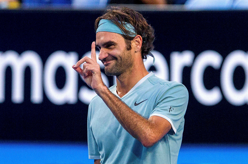 Roger Federer of Switzerland reacts during his match against Richard Gasquet of France at the Hopman Cup in Perth, Australia, January 6, 2017. Photo: Reuters